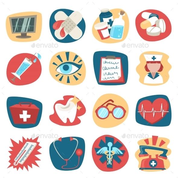 GraphicRiver Hospital Icons Set 8831410