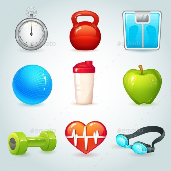 GraphicRiver Sport and Fitness Icons 8831510