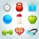 Sport and Fitness Icons - GraphicRiver Item for Sale