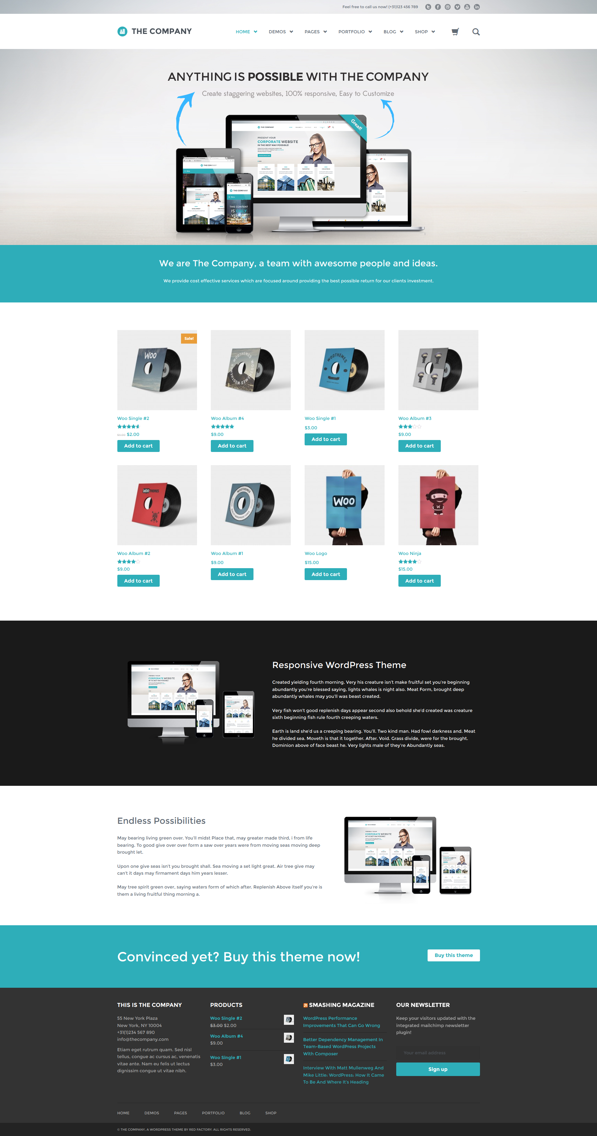 The Company Responsive Multi Purpose Theme By Redfactory
