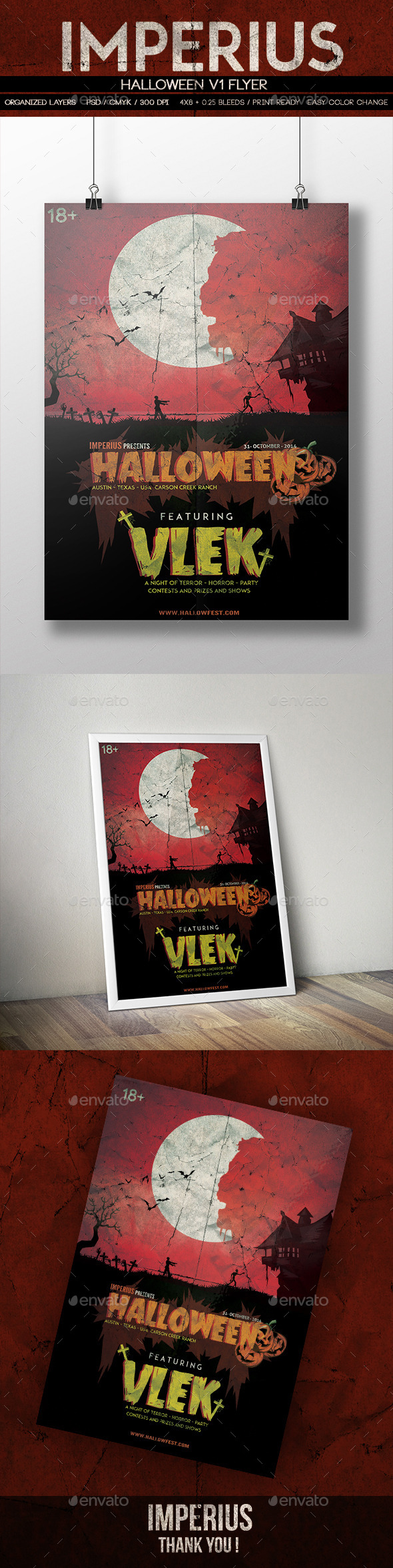 GraphicRiver Halloween V1 Flyer 8831673