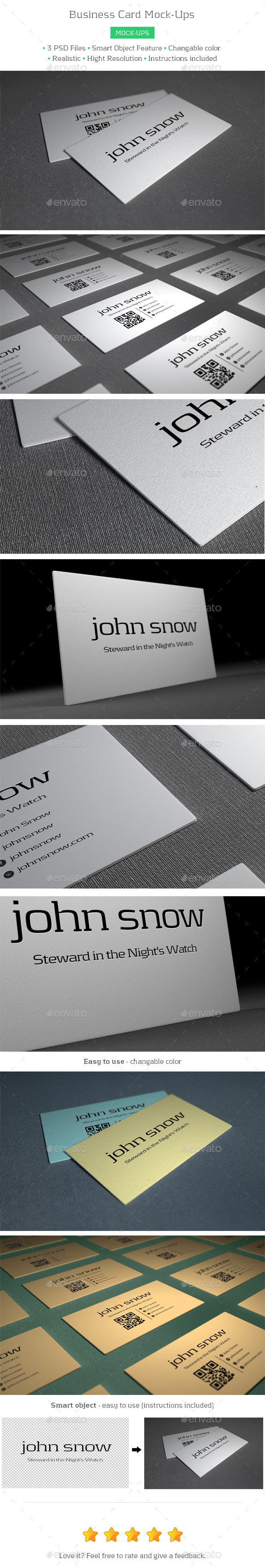 GraphicRiver Business Card Mock-Ups 8832009