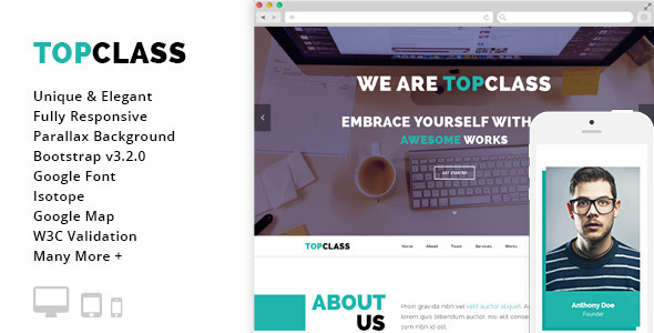 ThemeForest Top Class Multipurpose HTML5 Responsive Template 8804831