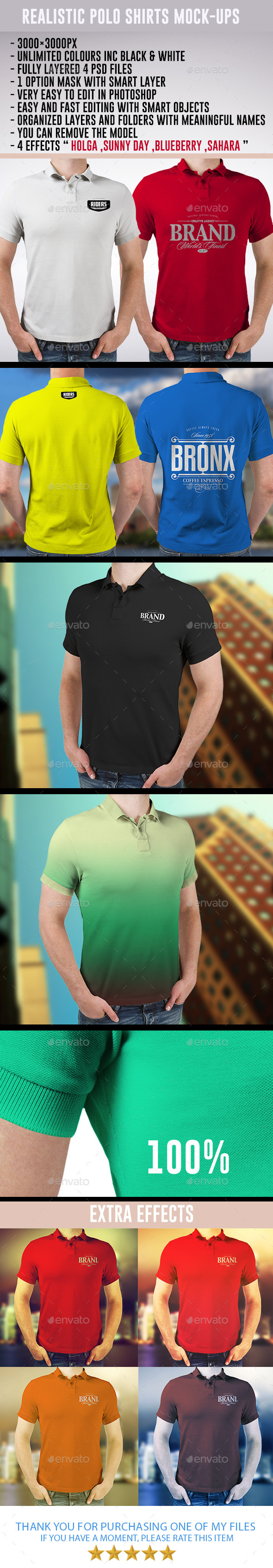 GraphicRiver Realistic Polo Shirts Mock-ups 8832645