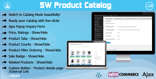 CodeCanyon WooCommerce Catalog Mode with Ajax Popup Inquiry 8775822