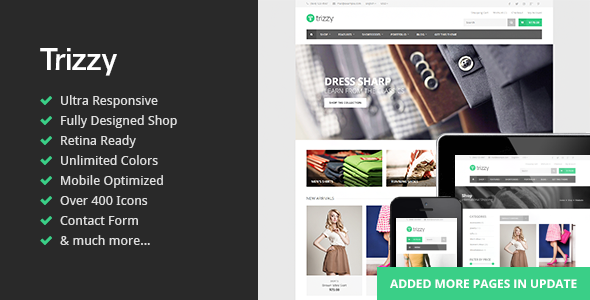 Trizzy - Multi-Purpose eCommerce HTML Template - Shopping Retail