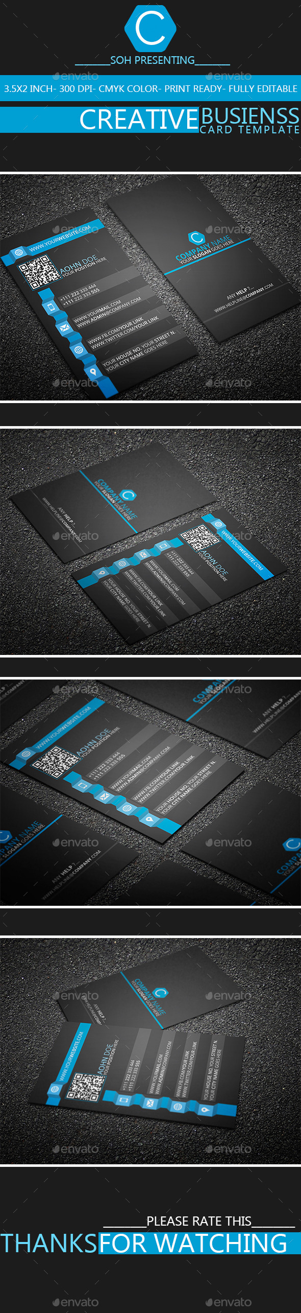GraphicRiver Creative Business Card Template 2 8833832