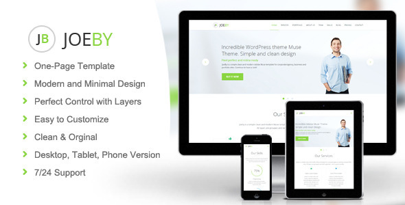 ThemeForest Joeby Business Muse Theme 8833983