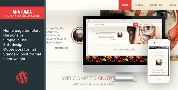 ThemeForest Anatomia-Simple Blog Or Magazine 8834072