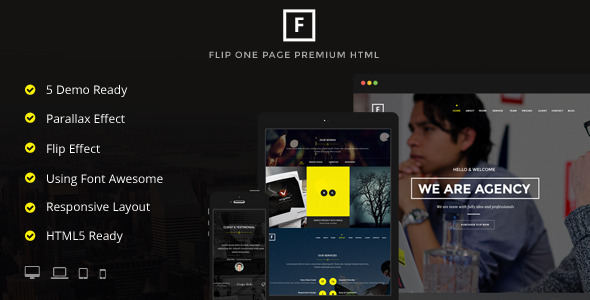 ThemeForest Flipping Page & One Page Site Template 8782448