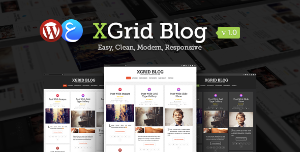 ThemeForest xGrid Blog Clean & Personal WordPress Blog Theme 8767181