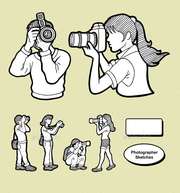 GraphicRiver Photographer Sketches 8834120