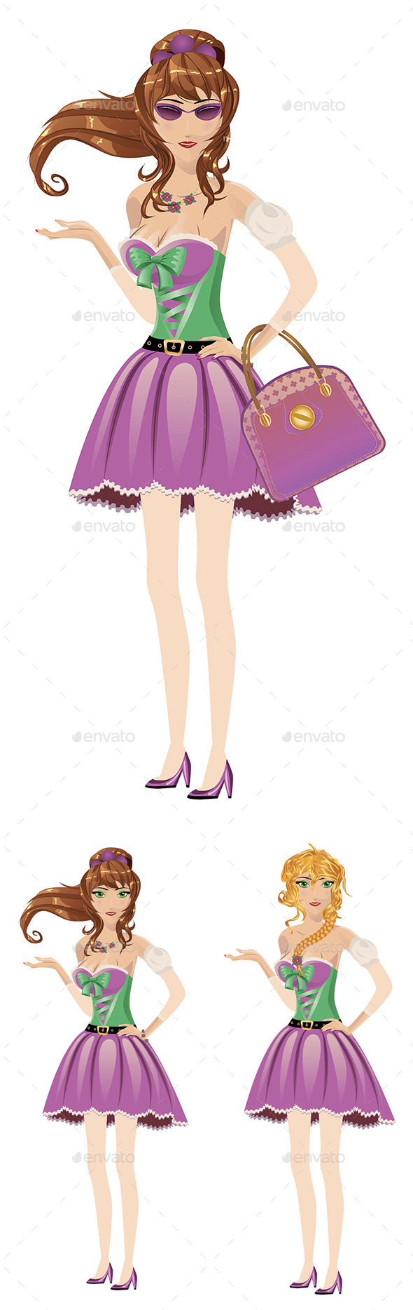 GraphicRiver Girl in Spring Dress 8834122
