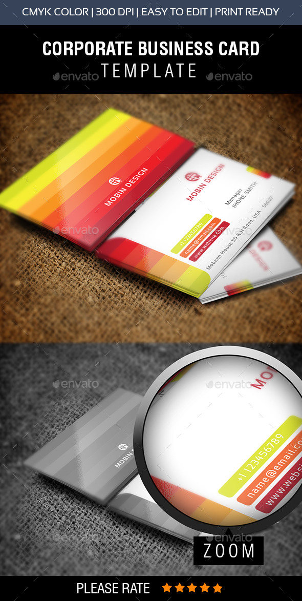 GraphicRiver Colorful Business Card 8834261