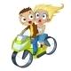 Couple on Motorcycle - GraphicRiver Item for Sale