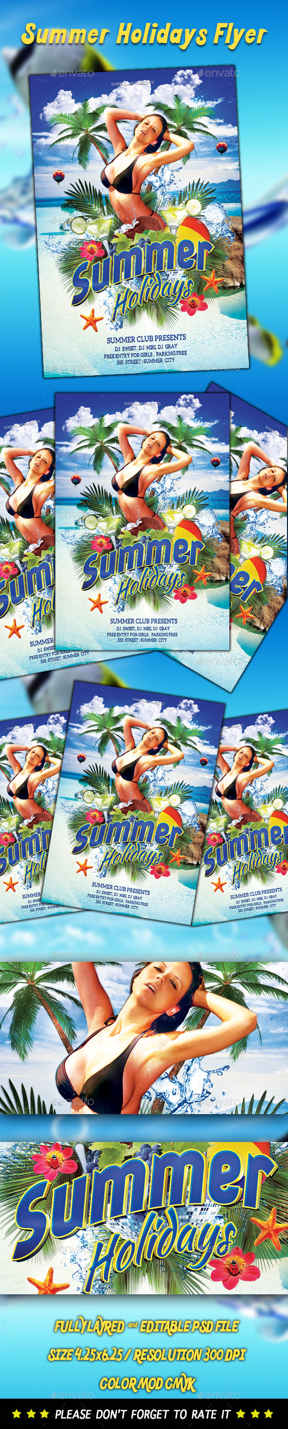GraphicRiver Summer Holidays Flyer 8823378