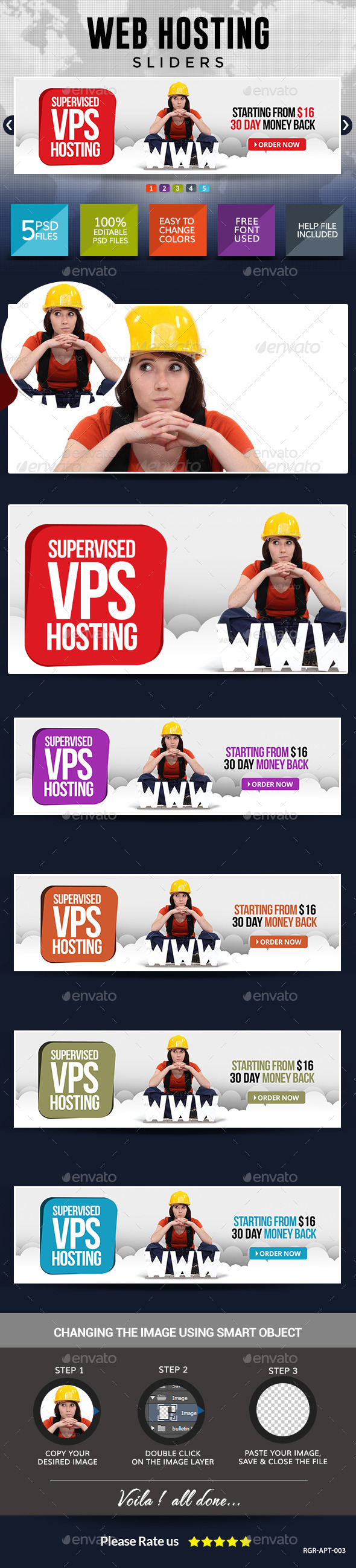GraphicRiver Web Hosting Slider Images 8834570