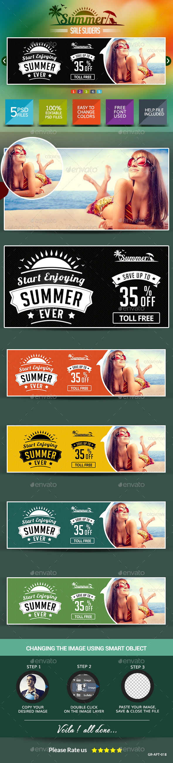 GraphicRiver Summer Sale Sliders 8834574