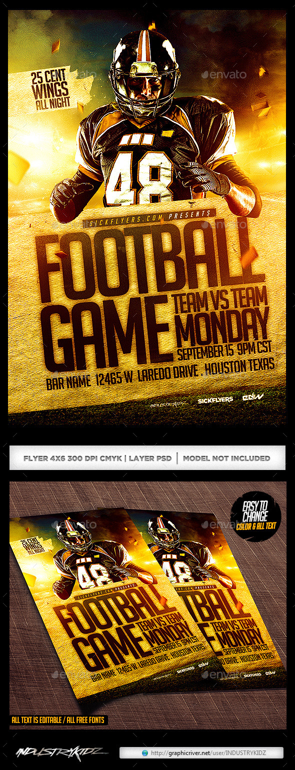 GraphicRiver Football Flyer Template PSD 8835359