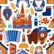 Russia Travel Seamless Pattern - GraphicRiver Item for Sale