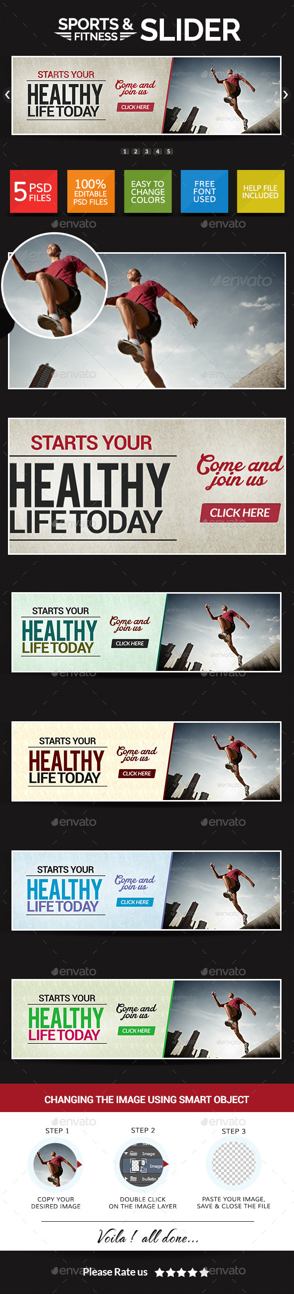 GraphicRiver Sports and Fitness Slider 8835524