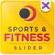 Sports and Fitness Slider - GraphicRiver Item for Sale