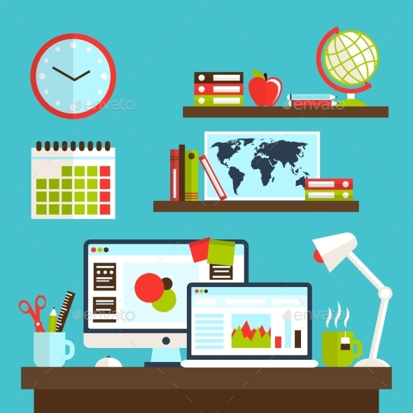 GraphicRiver Office Workstation Design 8835535