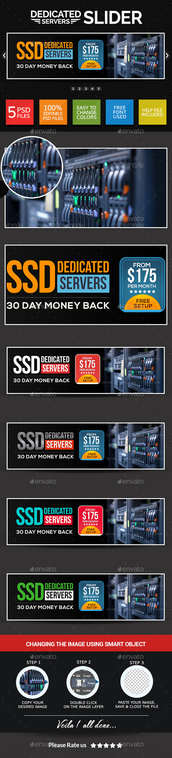 GraphicRiver Web Hosting Sliders 8835536