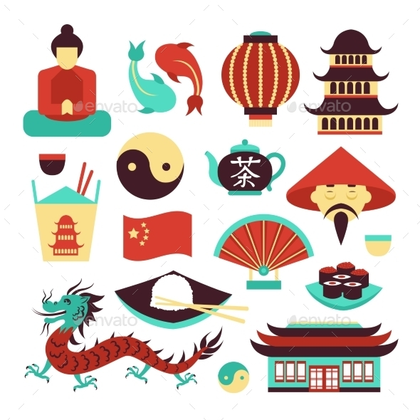 GraphicRiver China Symbols Set 8835539