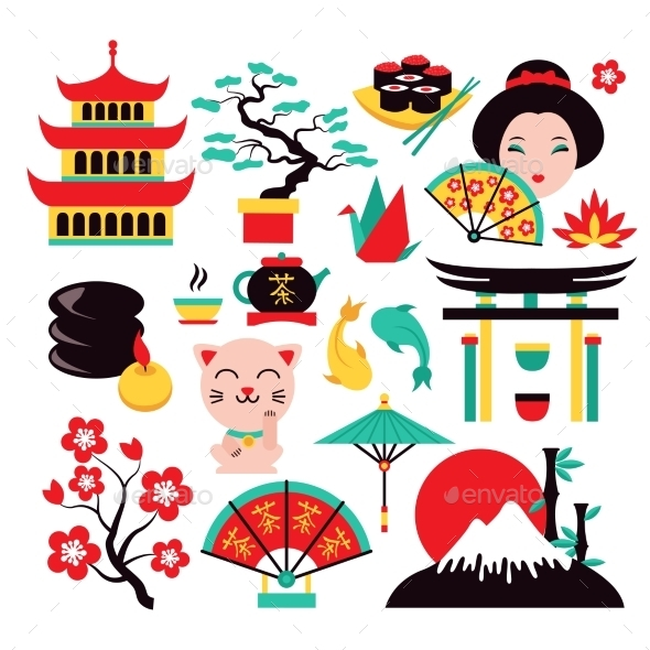 GraphicRiver Japan Symbols Set 8835541
