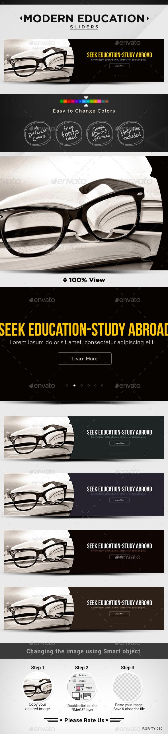 GraphicRiver Education & College Sliders 8835559