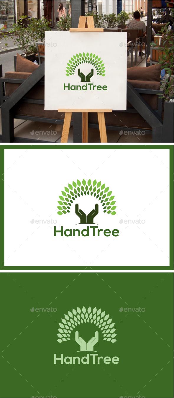 GraphicRiver HandTree Logo 8835562