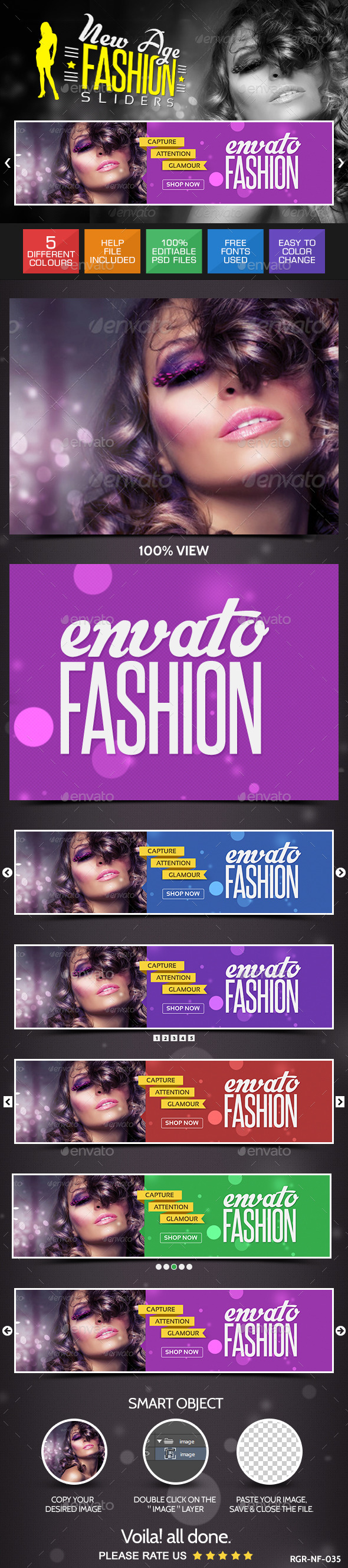GraphicRiver Fashion Sliders 8835640