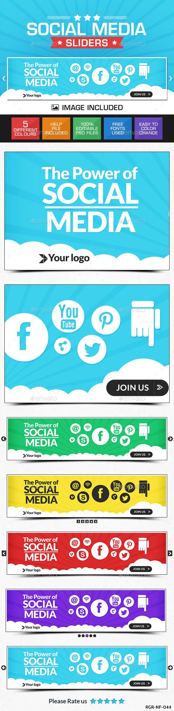 GraphicRiver Social Media Slider 8835645