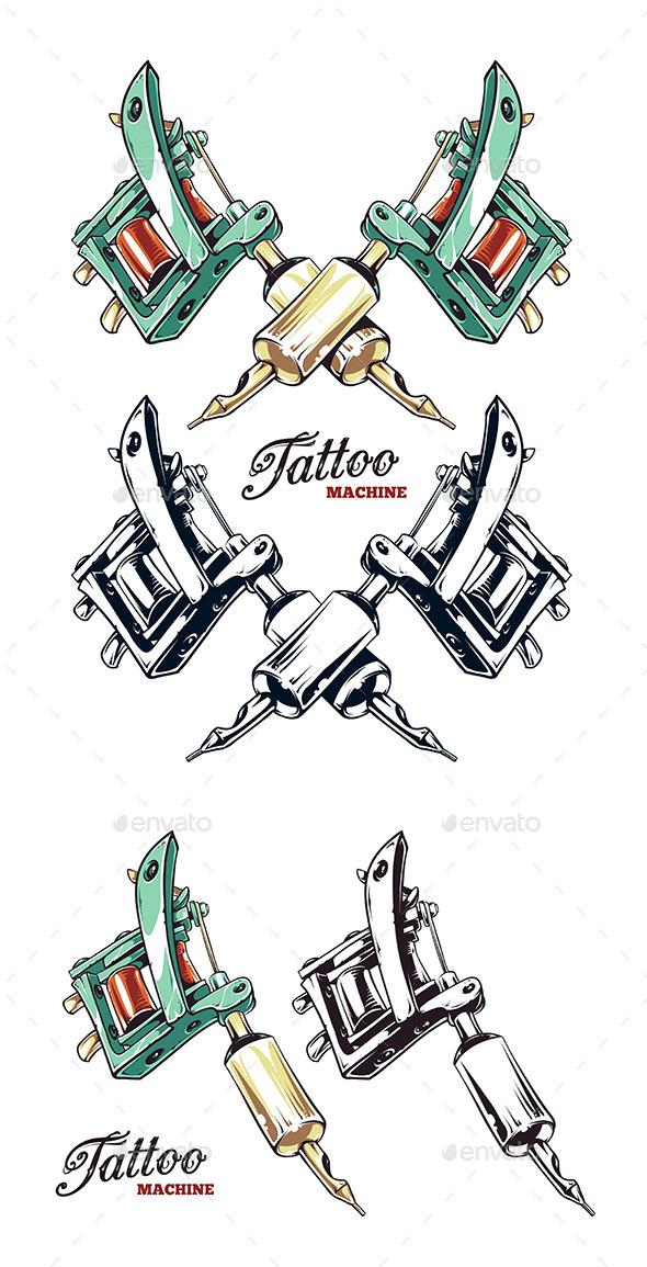 GraphicRiver Tattoo Machine 8835664