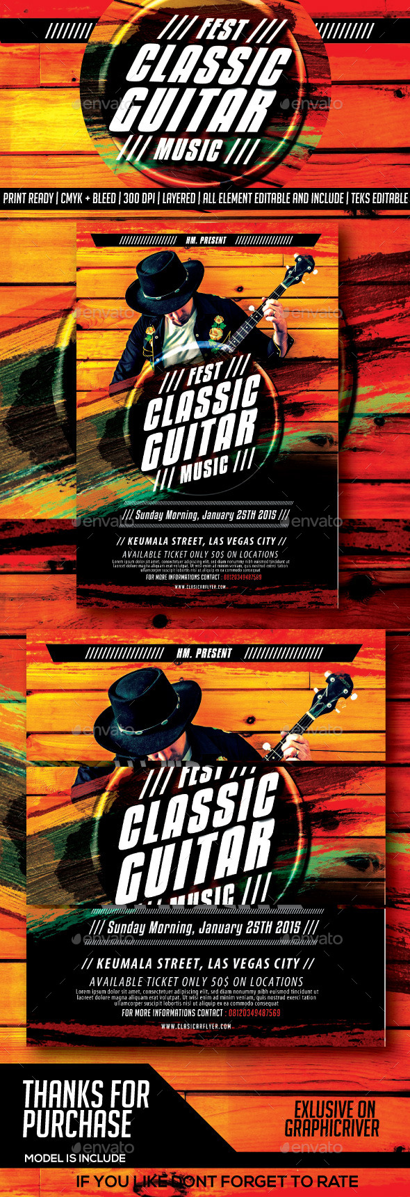 GraphicRiver Classical Guitar Festival Music Flyer 8819881