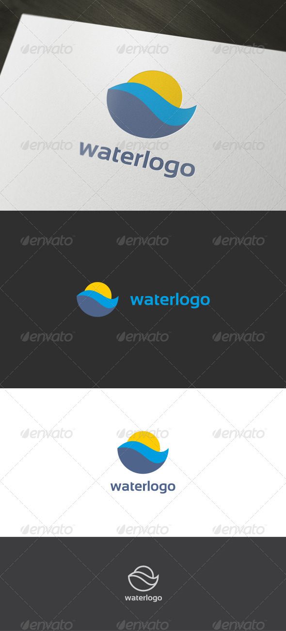 Graphic River Water Logo Logo Templates -  Nature 899105