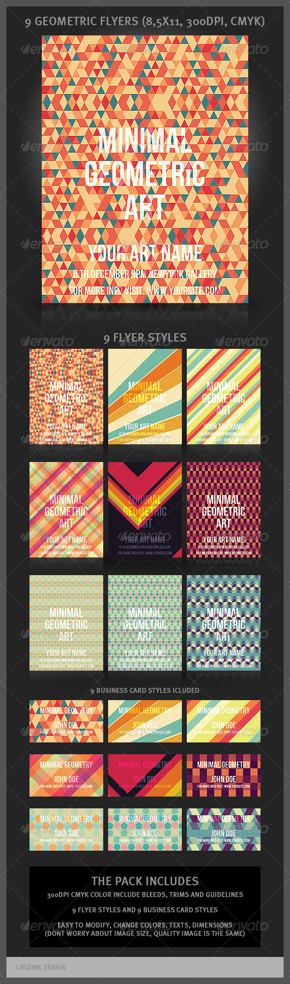 GraphicRiver 9 Geometric Flyers and Business Cards 899126
