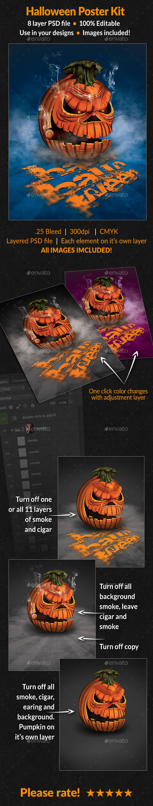 GraphicRiver Halloween Poster Kit 8835797
