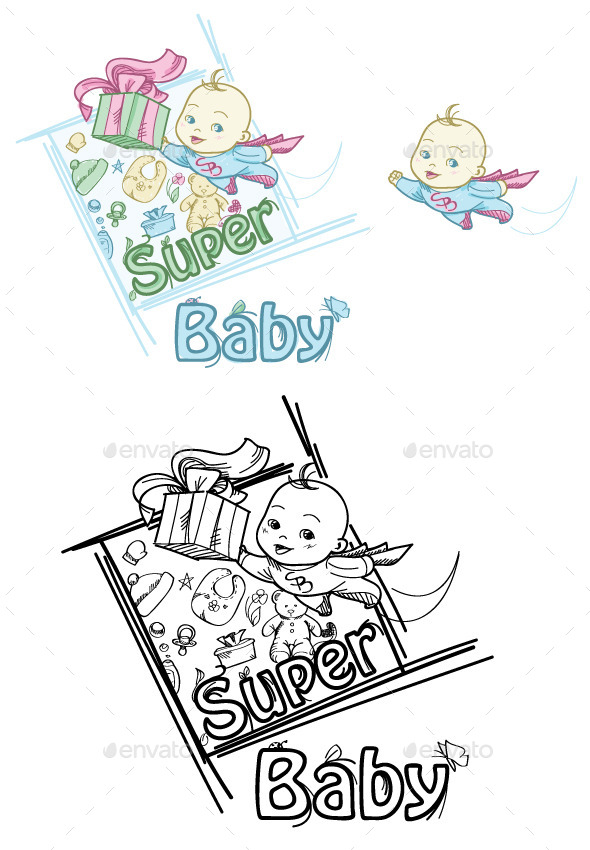 GraphicRiver Super Baby 8836139