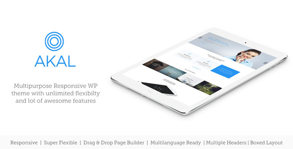 ThemeForest Akal Multipurpose Wordpress Theme 8836141