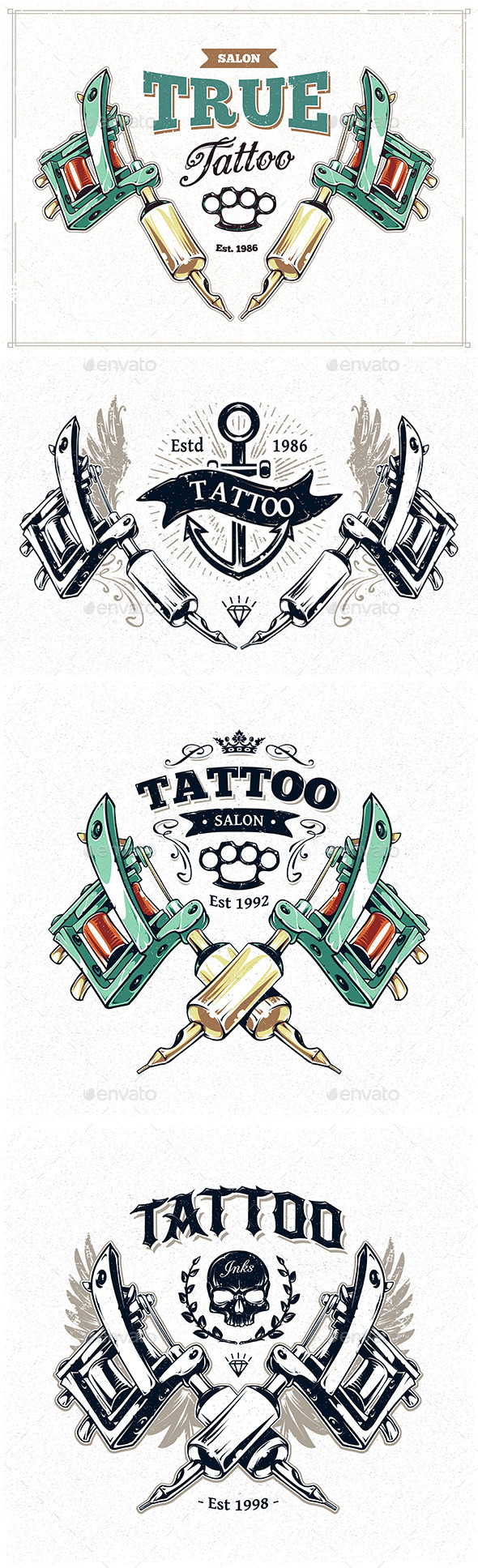 GraphicRiver Tattoo Studio Prints 8836148