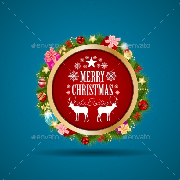 GraphicRiver Abstract Christmas and New Year Background 8836343