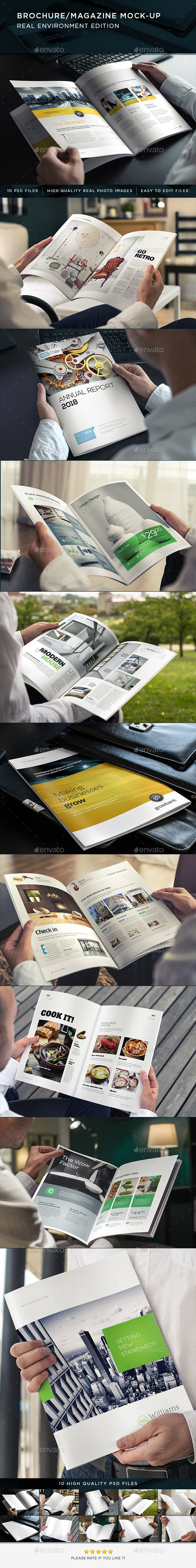 GraphicRiver Brochure Magazine Mock-Up 8836441