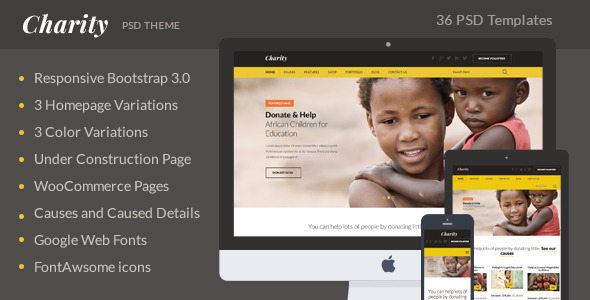 Charity PSD Theme
