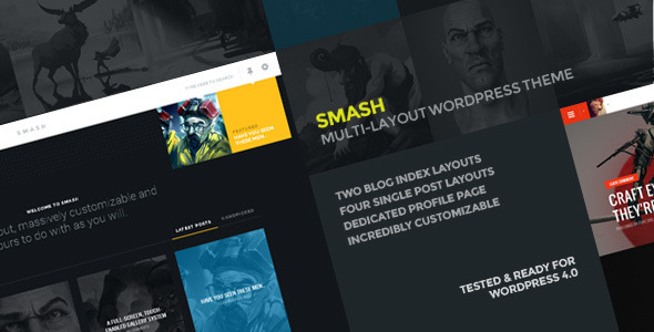 ThemeForest Smash A multi-layout personal theme for WordPress 8292229