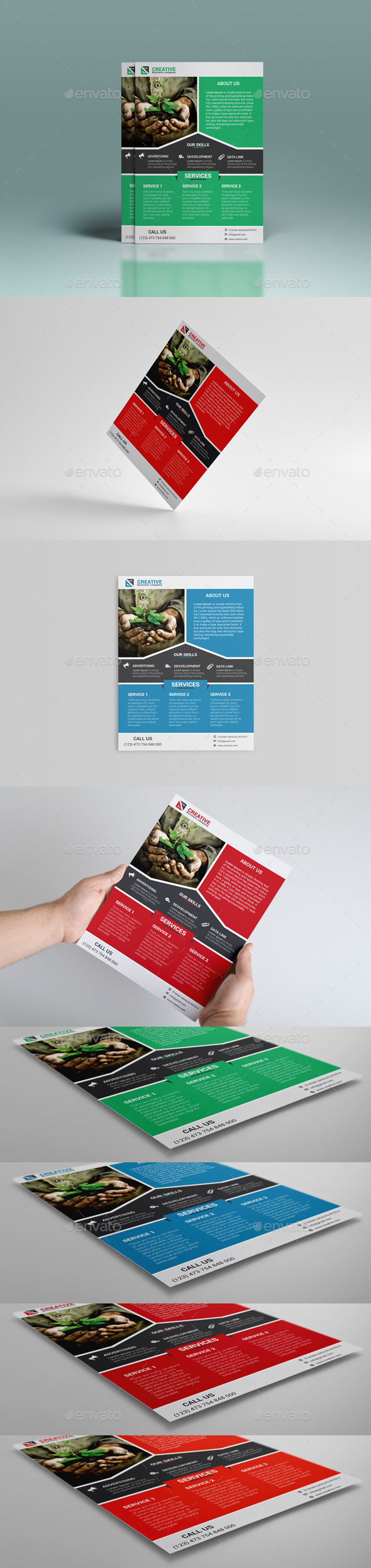 GraphicRiver Green Business Flyer 8823700