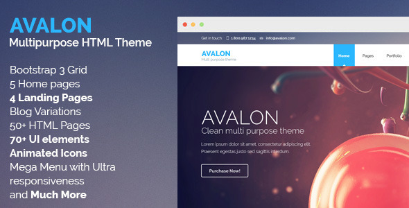 ThemeForest Avalon Commerce Multipurpose HTML Theme 8656927