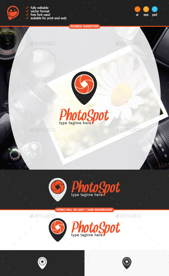 GraphicRiver Photo Spot Logo Template 8836916