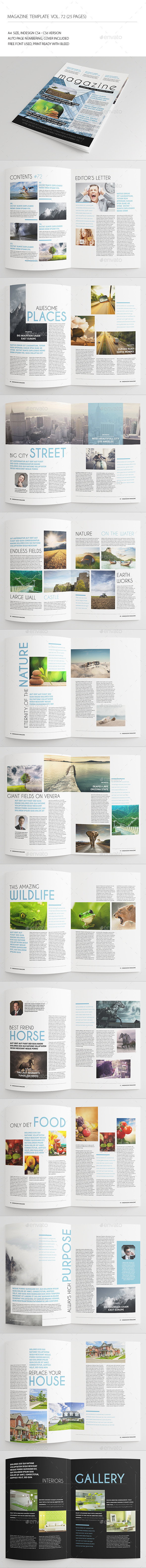 GraphicRiver 25 Pages Universal Magazine Vol72 8836943